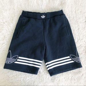 Adidas Black Sweat Shorts Size Medium
